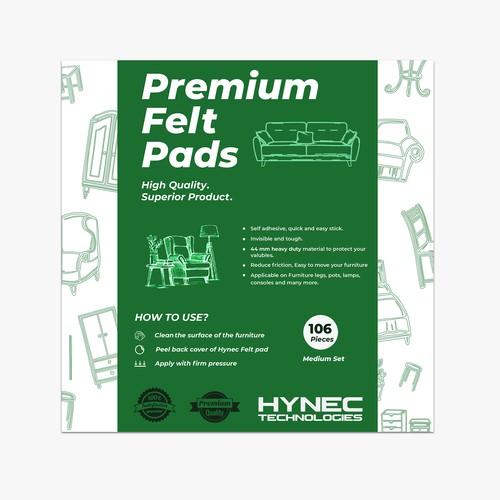 Furniture pad label design