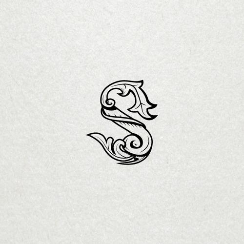 Vintage S letter design