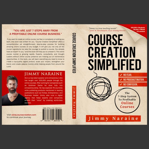 A Minimalist Book cover for Course Creation Simplified-