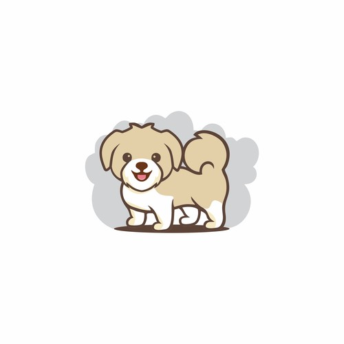 Cute puppy logo for puppy lover company