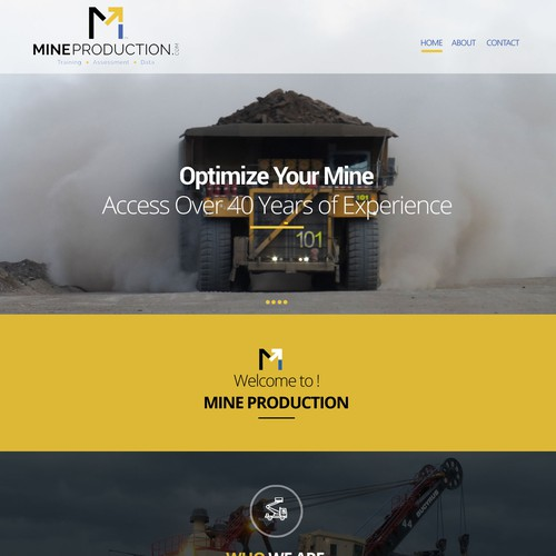 Website Design for Mining Firm