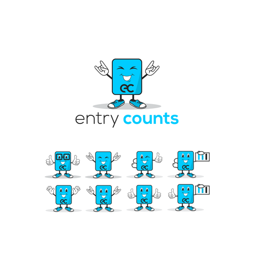 Entry Counts character logo design