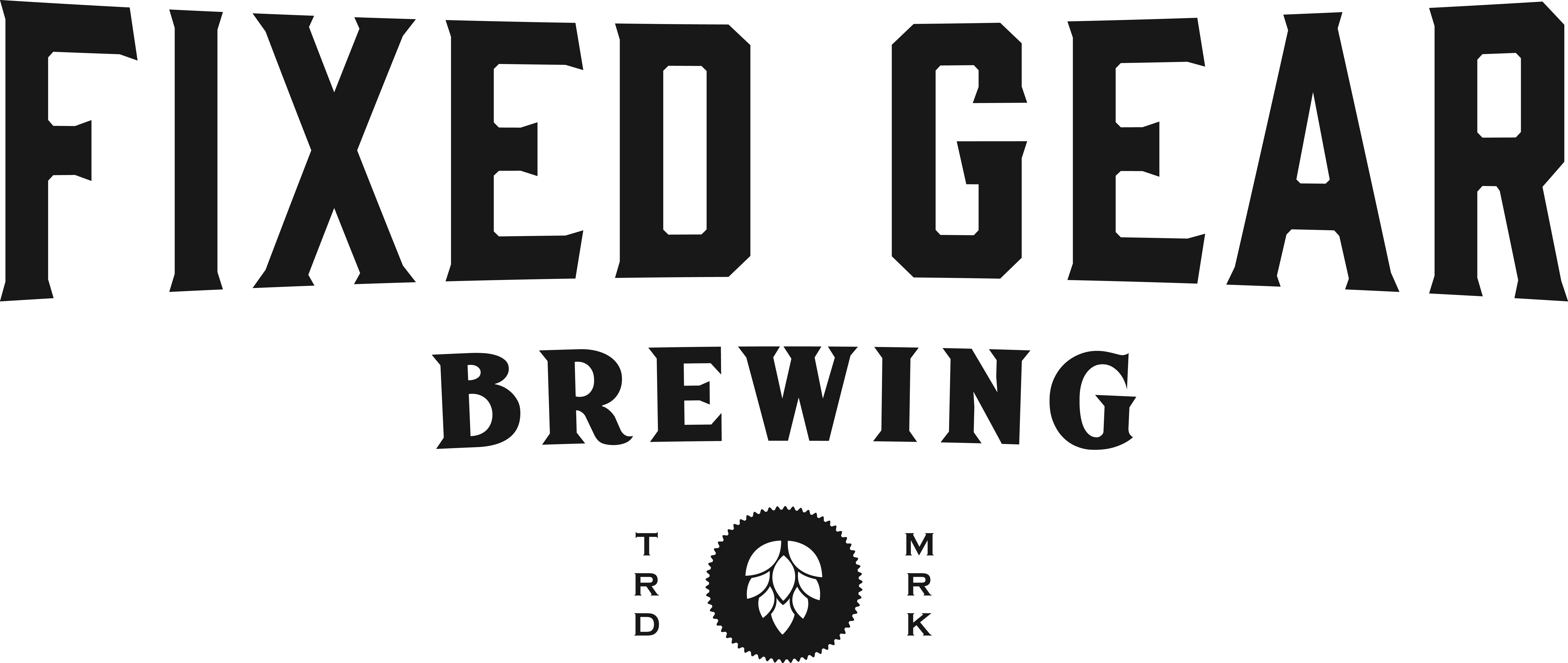 Craft Brewery Logo with Bicycle Theme