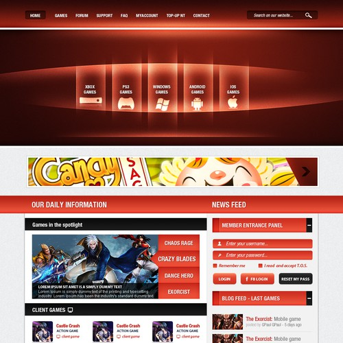 Online Gaming portal