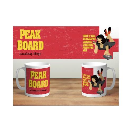 Mug design for Peakboard company