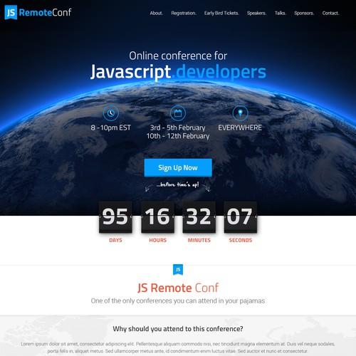 Website for an online conference for Javascript developers