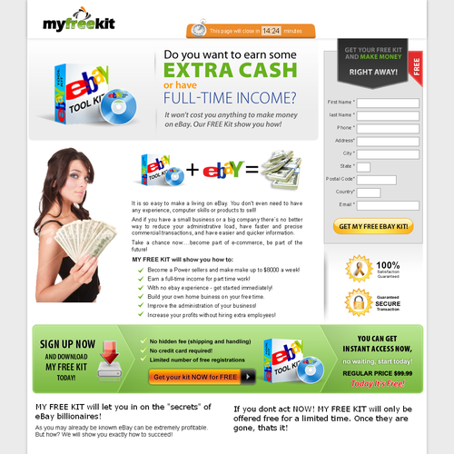 eBay Home Based Opportunity Website (Direct Response)