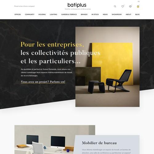 Furniture website design 2