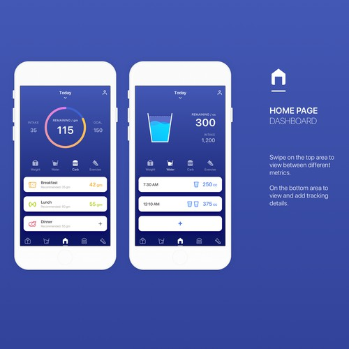 Weight loss app design