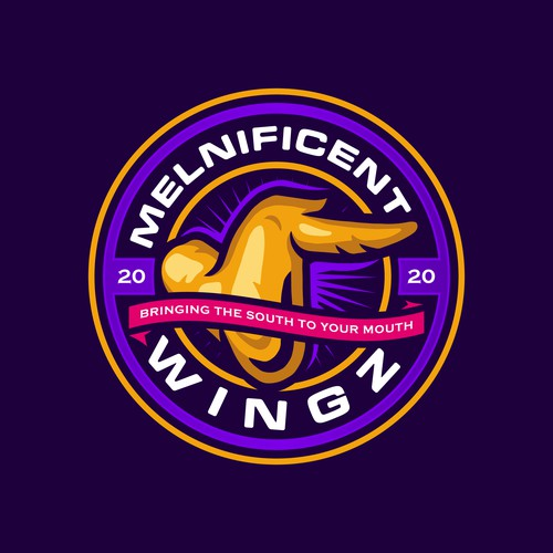 Chicken Wings Logo for Melnificent