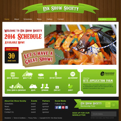 Create a new landing page for the Esk Show