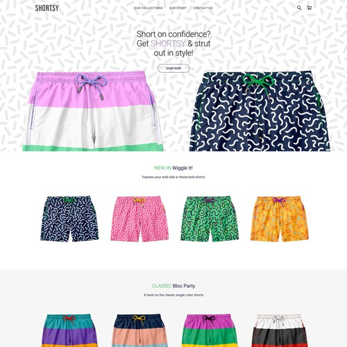 Square Online Store for Customizable Swim Short Company