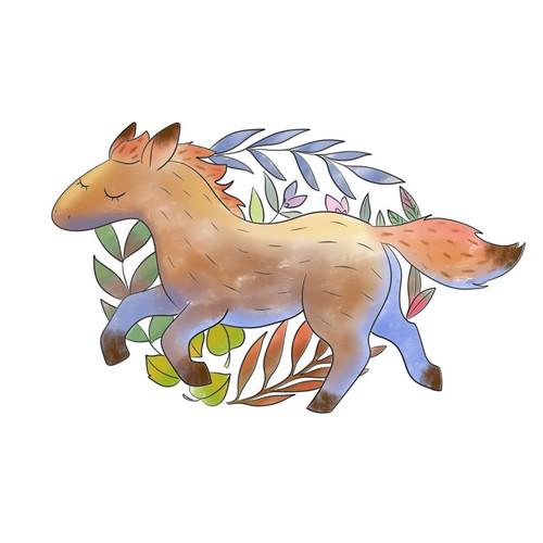 A horse illustration