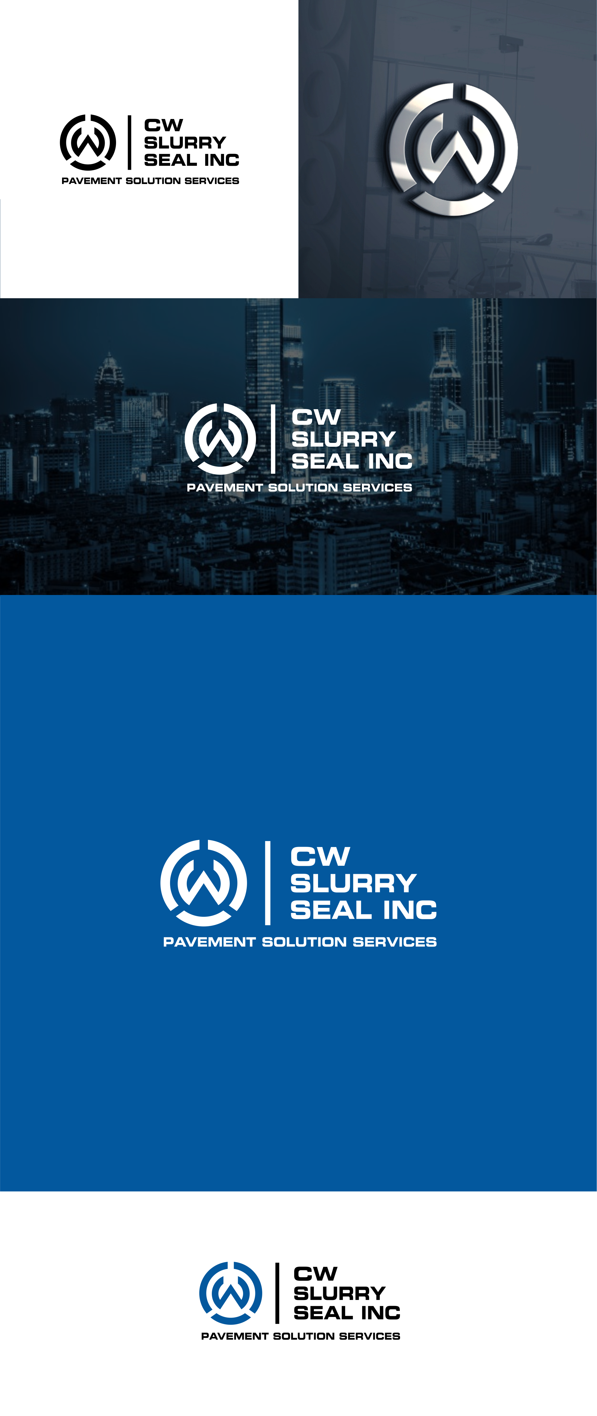design the slurry seal machine and product in the logo. Check out CWslurryseal.com