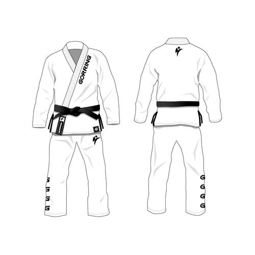 illustrations for Bjj GI . Brazilian Jujitsu