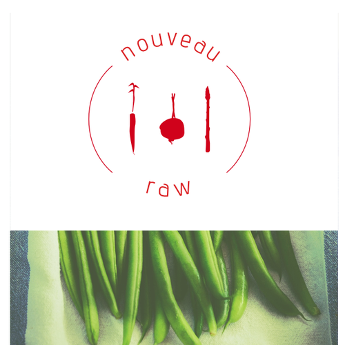 Simple emblem for raw, healthy food products