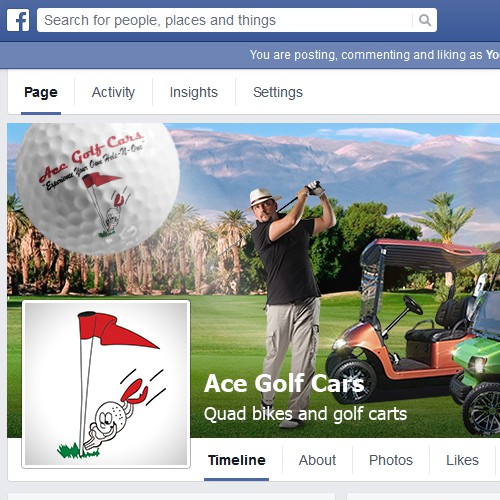 Create a Facebook Cover for Custom Golf Car Company