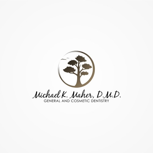 Create the next logo for Michael K. Maher, D.M.D.