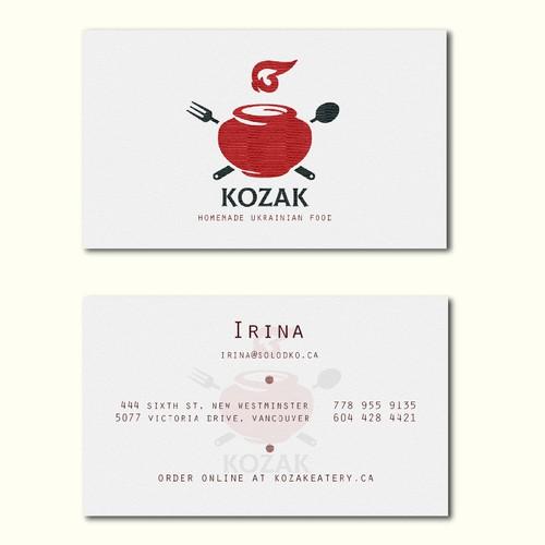 Kozak homemade Ukrainian food
