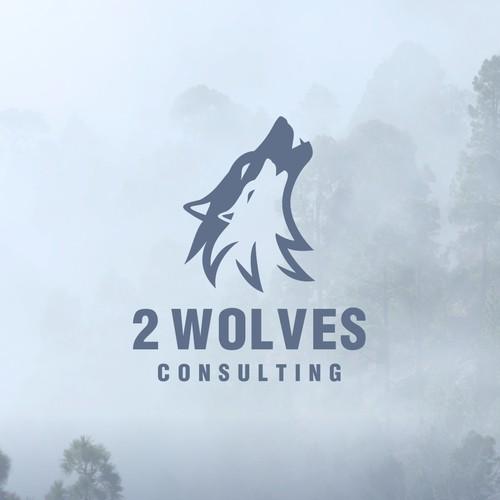 2 Wolves logo