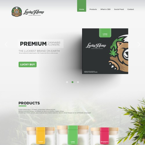 LuckyHemp Website Design