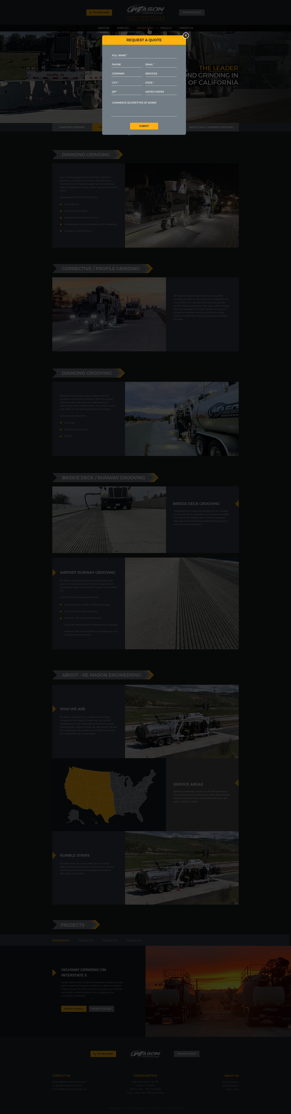RE Mason Engineering - New One-Page Website