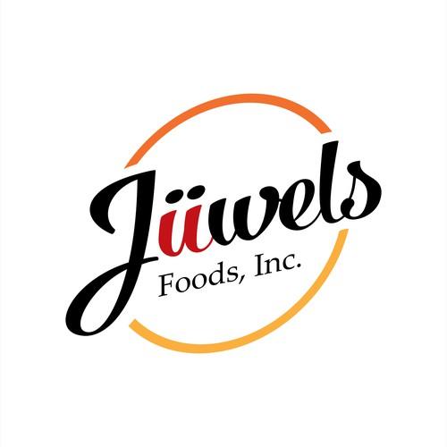 Create a fun logo design for Jüwels Foods
