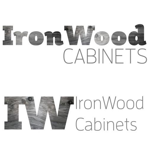 Logo Concept for Custom Woodwork Cabinet Shop