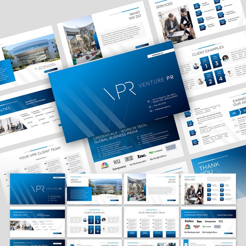 Pitch slides for a top tech communications firm (client sales)