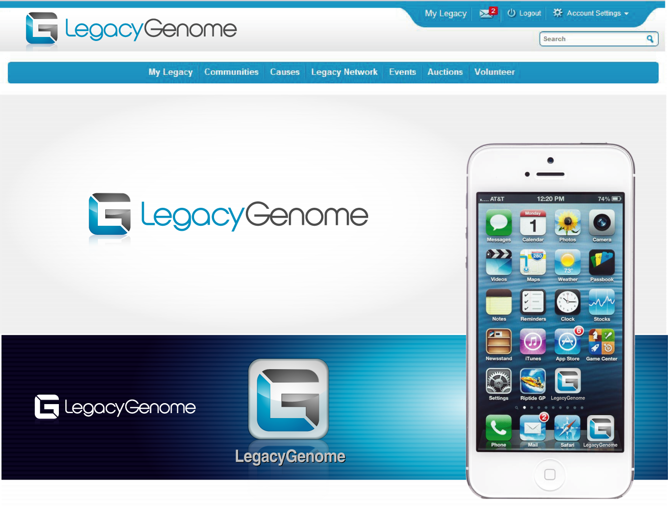 logo for LegacyGenome