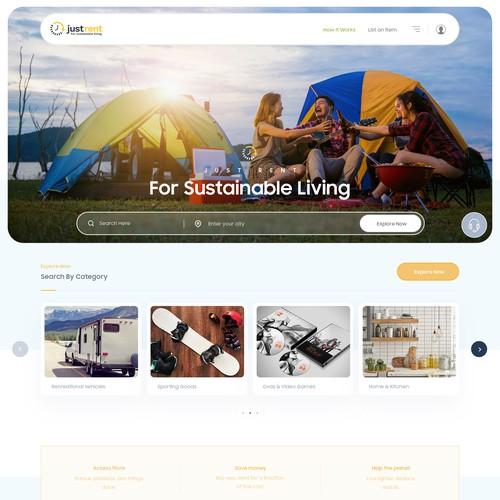 JustRent.com Webpage Design