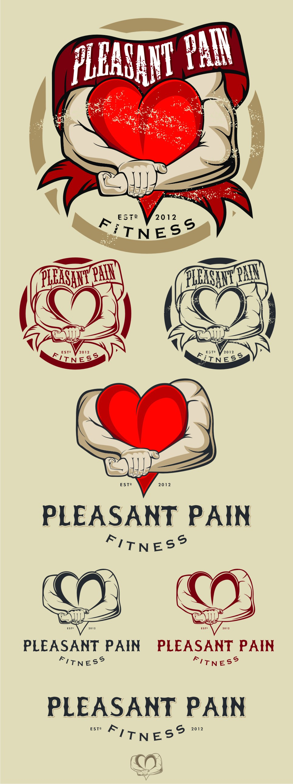 Logo for Pleasant Pain Fitness: Is your heart in it?