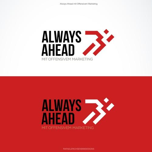 Logo com símbolo que transmite a ideia de movimento
