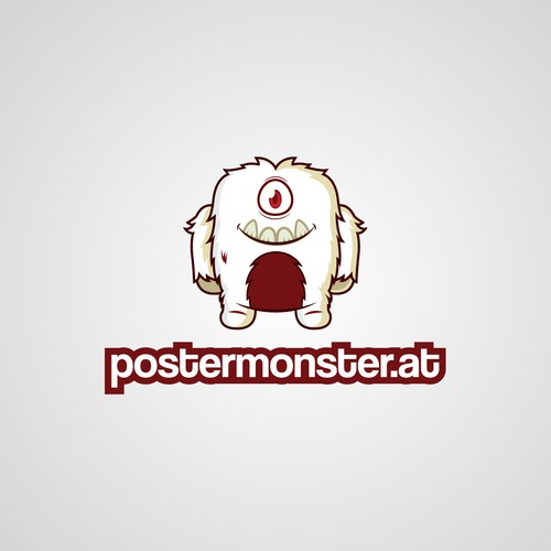 postermonster.at needs a dinky and haired poster monster as logo