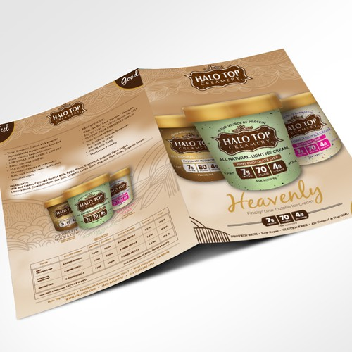 Ice cream brochure. All images and information supplied.