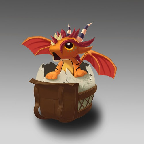 Baby dragon for t-shirt