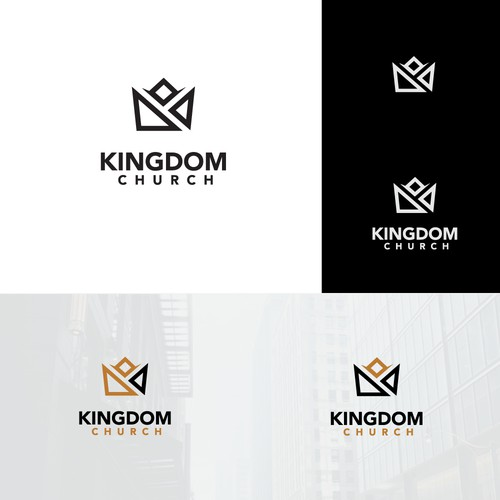 Design a modern sleek logo for Kingdom Church