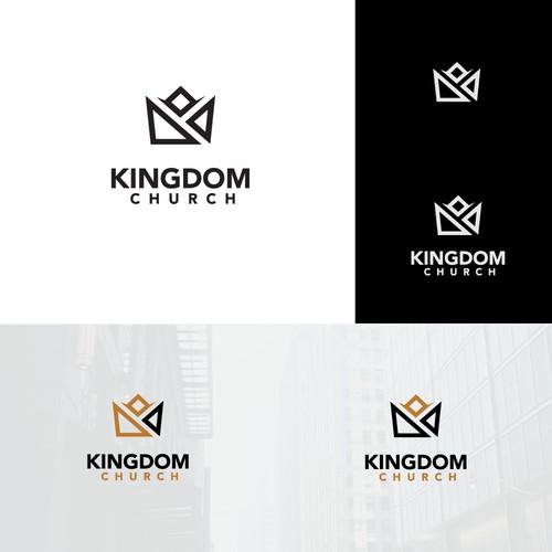 Design a modern sleek logo for Kingdom Church