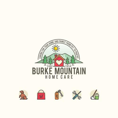 Colorful Logo Concept for Burke Mountain Homecare