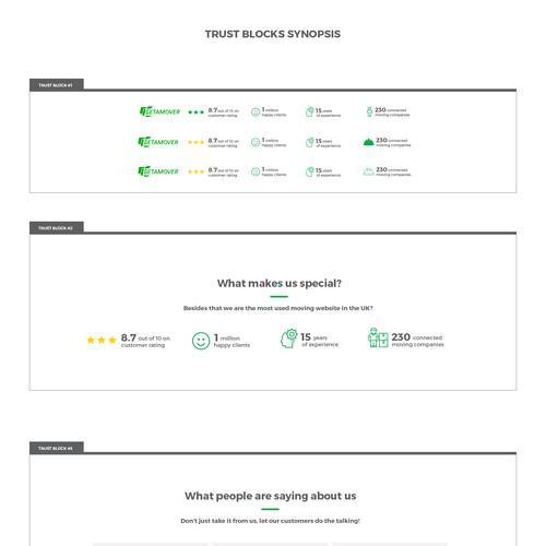 Trust Blocks Design for Website