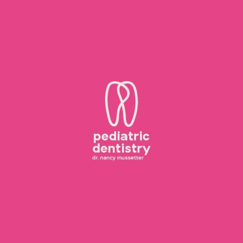 handdrawn logo for pediatric dentist