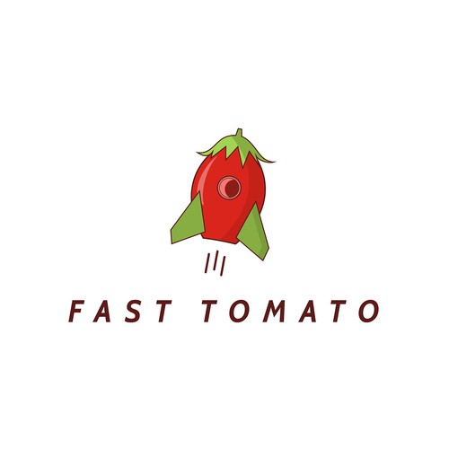 Logo for a student career website called Fast Tomato