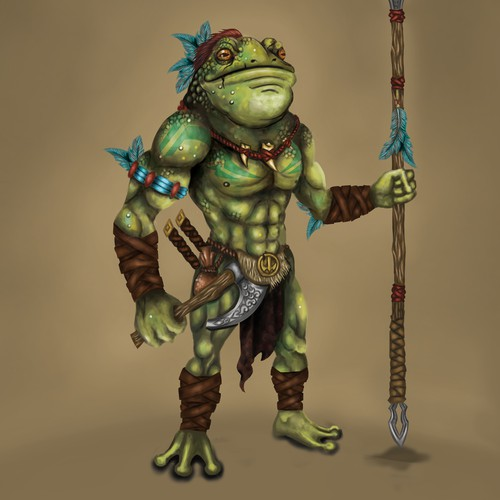 TRIBAL WARRIOR FROG.
