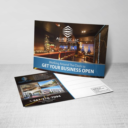 Post card for direct mail