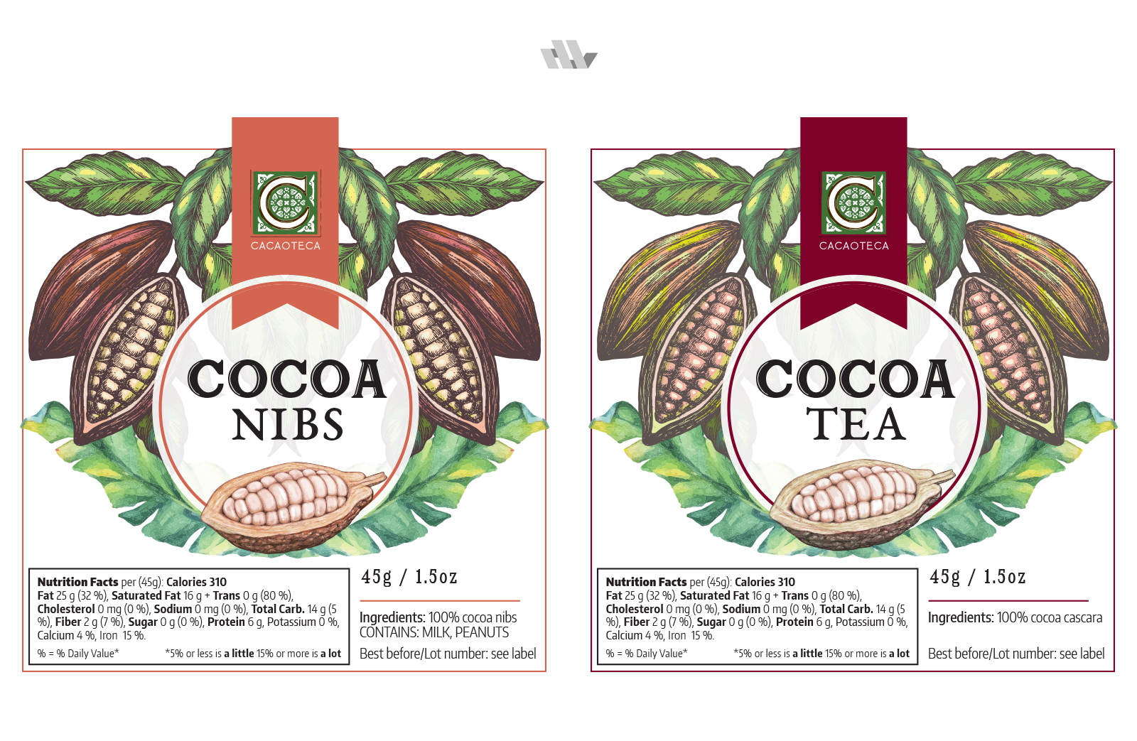 Cocoa Powder Labels