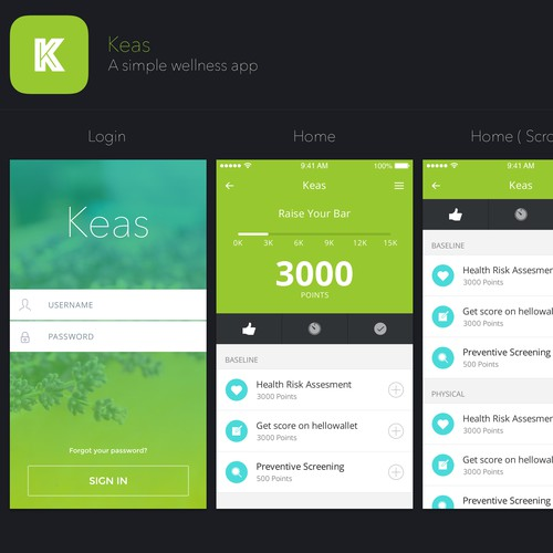 Create a visual treatment for our mobile app