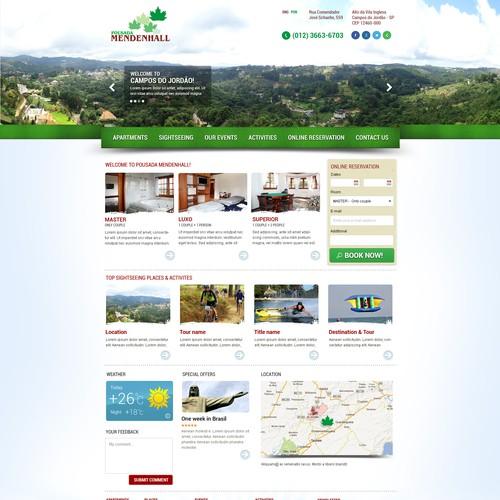 website design for Pousada Mendenhall (Mendenhall Inn)