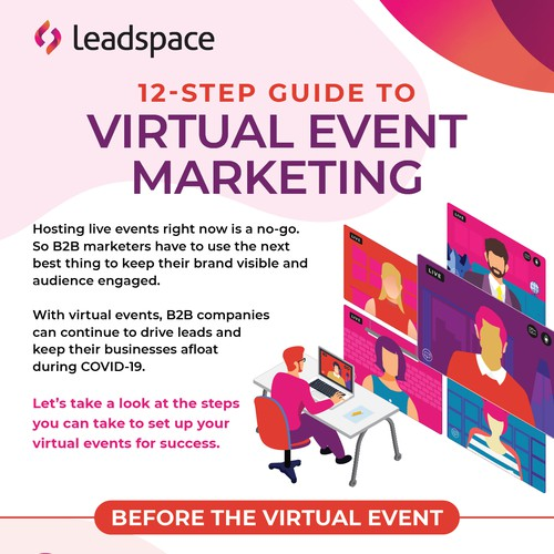 Leadspace Virtual Event Marketing infographic