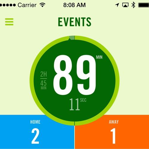 iOS Soccer App User Interface