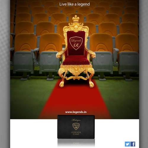 business or advertising for Legends Card